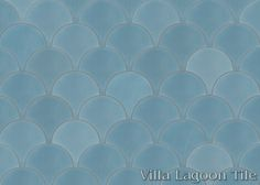 Solid Fishscale Frosted Teal cement tile, from Villa Lagoon Tile.