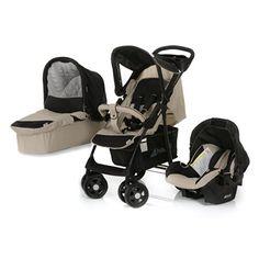 Hauck Poussette Combinée – Shopper Trio Set, beige / noir | Your #1 Source for Baby Products