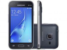 "Smartphone Samsung Galaxy J1 Mini 8GB Preto - Dual Chip 3G Câm. 5MP Tela 4.0"" Proc. Quad Core"