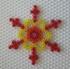 Snowflake perler beads