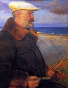 Michael Ancher by Anna Ancher,1901