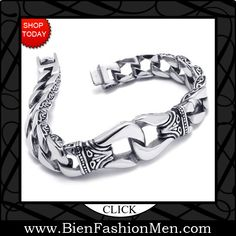 Mens Bold Bracelets | Mens Bracelets | Mens Bracelet | Mens Jewelry | Mens Accessories | Bracelets on Men | Mens Jewelery | Shop Now ♦ KONOV Jewelry Stainless Steel Men's Bracelet, Silver Black, 8 3/4 Inch (with Gift Bag) $25.99