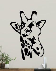 Giraffe Decal Animal Vinyl Sticker Wild Animal Wall by CrazyDecals