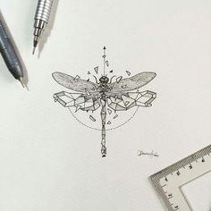 #GeometricBeasts | Dragonfly  More updates on instagram.com/kerbyrosanes