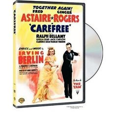 Carefree - Irving Berlin musical film starring Fred Astaire and Ginger Rogers Old Movie Posters, Classic Movie Posters, Classic Movies, Vintage Posters, Fred Astaire, Old Movies, Vintage Movies, Ginger Rogers Movies, Dance Movies