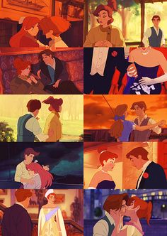 """Anastasia (1997)  - """"Princesses don't marry kitchen boys""""  Why is he so good looking?  He's not even real!"""