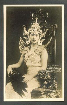 Her Majesty Queen Emma I. Miss Philippines. Manila, Miss Philippines, Jose Rizal, Filipino Culture, Filipiniana, Cool Photos, Interesting Photos, Pinoy, Vintage Photos