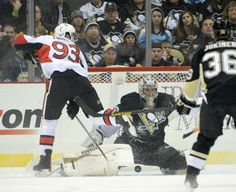 Feb. 3, 2014 - Penguins 2, Senators 1 (OT).  Wow WHAT a GAME.  I think Fleury's best save ever was present in that game