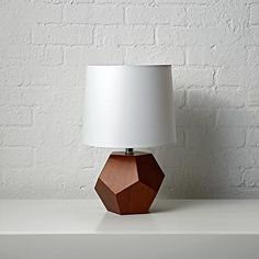 Geometric Wood Lamp