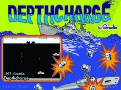 WEBSTA @favoritevideogamessince71 Depthcharge (1977 Arcade, developed by Gremlin Industries, published by Sega). In this game, the player controls a destroyer-ship and dropsdepth charges to destroy the submarines beneath and moves the ship back and forth in order to avoid the submarines mines. Up to four submarines may be present at any given time, each of which bears a score for destroying it that increases with its depth. https://en.m.wikipedia.org/ wiki/Depthcharge
