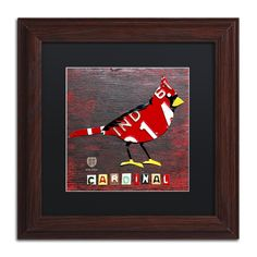 Indiana Cardinal by Design Turnpike Framed Graphic Art