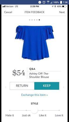 6ce17e09a8457 Stitch fix off the shoulder blouse