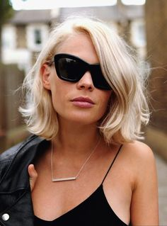 Romantic Waves and Blonde Color - Wavy Short Bob haircut looks great.  Add some glasses and looking amazing.