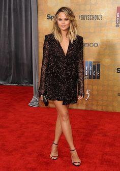 "Chrissy Teigen in Dion Lee attends Spike TV's ""Guys Choice 2016"" on June 4, 2016"