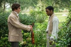 12 years a slave (2013) directed by Steve McQueen, starring Chiwetel Ejiofor, Lupita Nyong'o, Michael Fassbender and Brad Pitt. Based on the novel 'Twelve Years a Slave' (1853) by Solomon Northup.