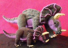 Triceratops Knitting Pattern