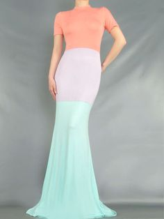70dcfce2b9 Long Color Block Dress. Prima Dons and Donnas Ombre Maxi Dress