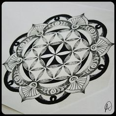 A flower of life mandala tattoo design by Thomas Hooper. Description from pinterest.com. I searched for this on bing.com/images