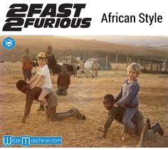 2 Fast 2 Furious - Funny - African Style - NFS - Weiße Kinder reiten schwarze Kinder in Afrika