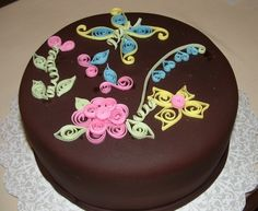 quilled cakes | Quill cake | Cakes! | Pinterest