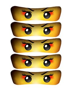 INSTANT DOWNLOAD INSTANT DOWNLOAD INSTANT DOWNLOAD Do you have a child that loves the GIRL Ninja (Samurai)?    If so, these Ninja Eyes are