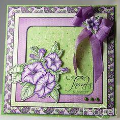 Petunia Thank You project - Heartfelt Creations