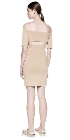 Knitwear   SUSPENDED RIB mini dress