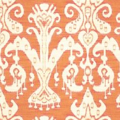 Kravet Design: 31446 - 712 Orange Ikat Fabric 25% OFF everyday low price!