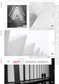 Das - Architecture (template) on Behance Presentation Layout, Business Presentation, Web Design, Layout Design, Red Color Schemes, High Touch, Typography Layout, Portfolio Layout, Graphic Design Inspiration