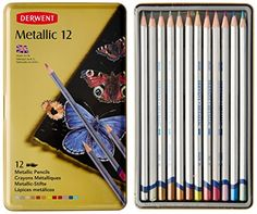 Derwent Metallic Watersoluble Pencils, 3.4mm Core, Metal Tin, 12 Count (0700456) Derwent http://smile.amazon.com/dp/B000TKCWCU/ref=cm_sw_r_pi_dp_KBafvb15E3EJX