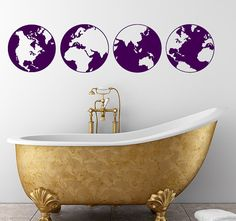 globe wall decals
