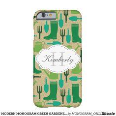 Garden theme monogram phone case
