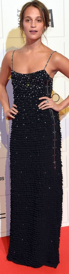 Alicia Vikander at the British Independent Film Awards, where Ex Machina scooped 4 awards