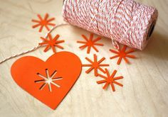 heart. make in red for cute scandinavian inspired christmas ornaments.