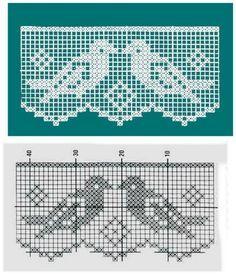 Resultado de imagen para filet crochet PAJAROS