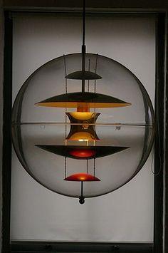 Globe light designed by Verner Panton for Louis Poulsen