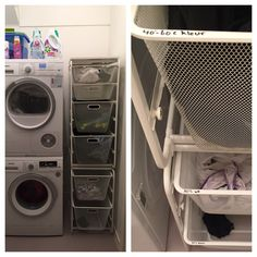 Was opbergen #laundry #was #opbergen #wasmachine Stacked Washer Dryer, Washer And Dryer, Washing Machine, Laundry, Home Appliances, Laundry Room, House Appliances, Kitchen Appliances, Laundry Service