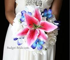Stargazer & Blue Orchid Bouquet Idea 1