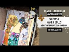 """PAPER DOLLS AUFPIMPEN - VERSTECKTER PLATZ ZUM SCHREIBEN 🟢 DTP@49dragonflies 🟢 PROMO-CODE """"LUISE2021"""" - YouTube All Video, Collage, Baseball Cards, Cover, Books, Youtube, Writing, Projects, Crafting"""
