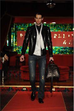 <3 the jacket and bag croc skin pattern Philipp Plein Fall Winter 2012