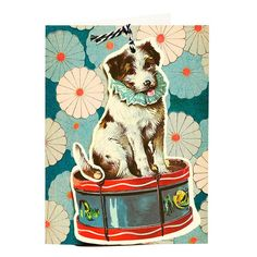 DOG ON A DRUM - FANDANGLE GREETING CARD