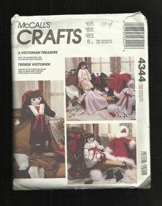 Vintage 1989 McCalls 4344 Victorian Soft Doll by DaisyMaeandMe, $8.00