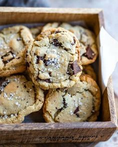 sea salt on brown butter chocolate chip cookies