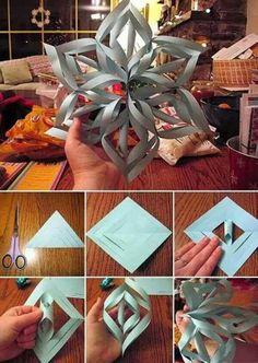3-d snowflakes tute
