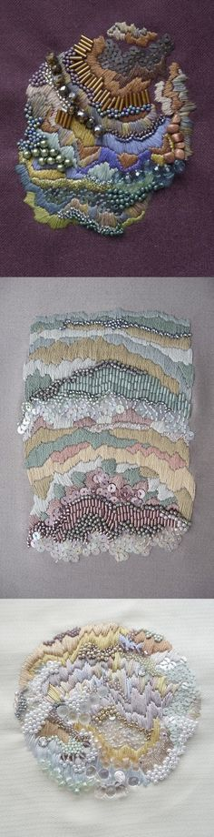 Anna Jane Searle. Embroidery Textile Art.