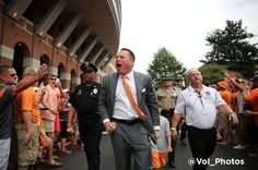First Vol Walk 2014 and Butch Jones is fired up! GBO!!