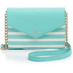 kate spade new york Crossbody - Fairmount Square Monday ($96) ❤ liked on Polyvore featuring bags, handbags, shoulder bags, purses, accessories, striped shoulder bag, stripe handbag, kate spade purses, crossbody shoulder bags and blue handbags
