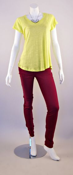Alexis Tee and J Brand Super Skinny Jeans