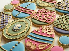 Gorgeous egg cookies by SweetAmbs on Etsy