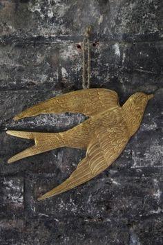 Gold Metal Bird Decoration